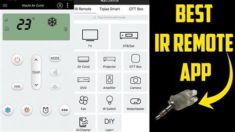 best ir blaster app for android and ios with how to make ir sensor
