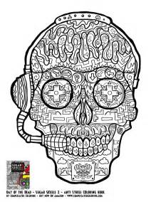 coloring pages for adults skulls gamer sugar skull free printable coloring page