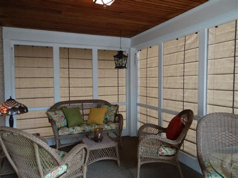 Blinds For Screened In Porch exterior screen porch shades transitional porch other metro by weather shades llc