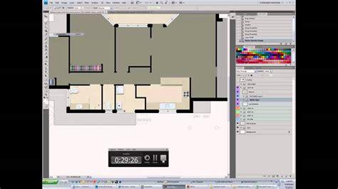how to create a floor plan photoshop rendered floor plan youtube