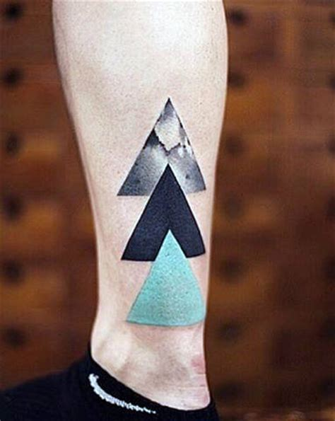 three triangle tattoo 70 small simple tattoos for manly ideas and inspiration