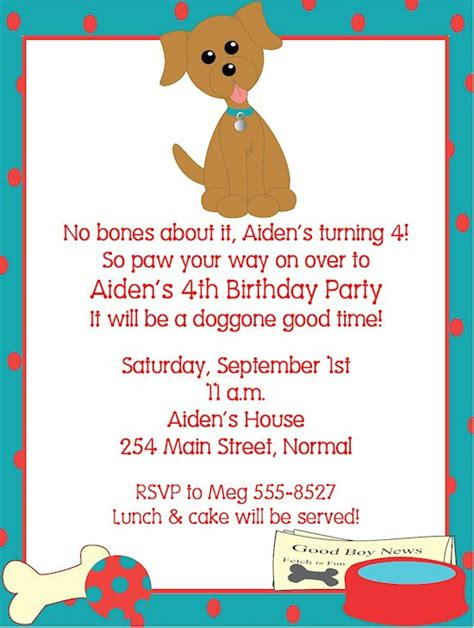 5558 Best My Birthday Images On Pinterest Puppy Invitation Template