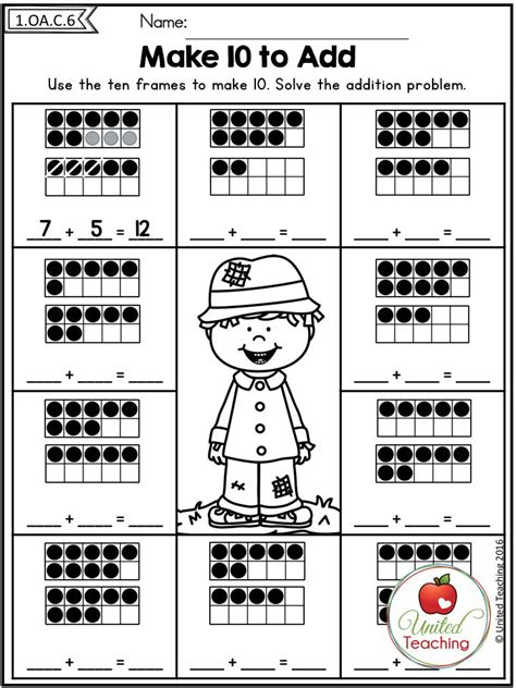 make a worksheet 17 best images about math addition on fact