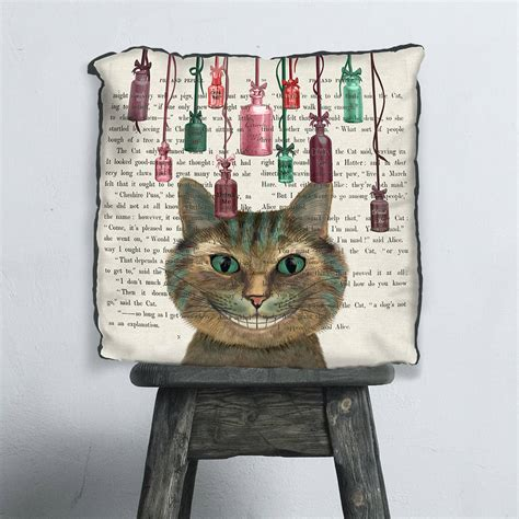 alice in wonderland home decor cheshire cat alice in wonderland cushion by fabfunky home