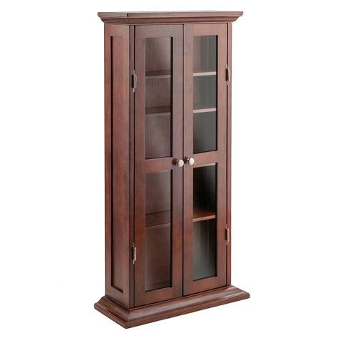 cd dvd furniture cabinets antique walnut wooden cd dvd storage cabinet 5 adjustable