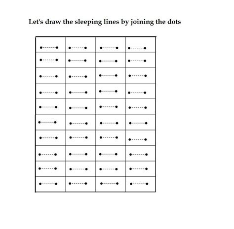 sleeping line pattern worksheets for kindergarten the concept of sleeping lines