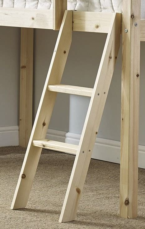 Cabin Bed With Ladder by Cabin Bed Slanted Pine Ladder