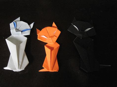 Origami Cat Tutorial - origami maniacs origami cat