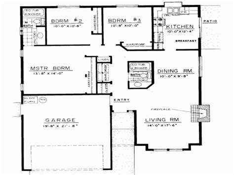 4 bedroom 3 bath open floor plan
