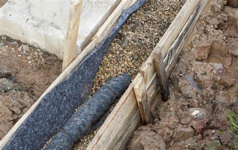 drainage am haus verlegen drainage verlegen bauen und wohnen in der schweiz