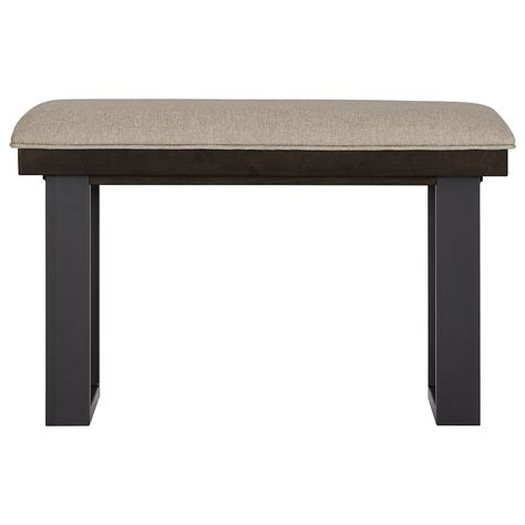 hi bench city furniture sawyer dark tone 24 quot high dining bench