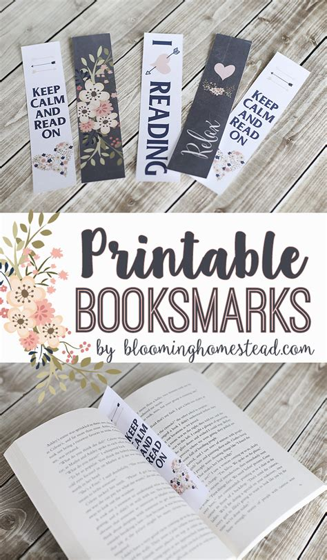printable bookmarks for books free printable bookmarks my new favorite book blooming