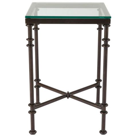Pompidou Small Metal Glass Side Table Oka