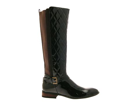 Wide Calf Quilted Boots womens quilted wide calf stretch boots knee high size uk 3 8 ebay