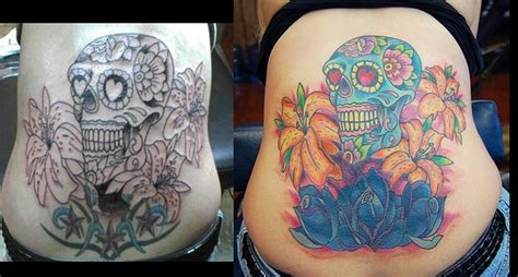 chest tattoo cover up before and after 87 best banner tattoo images on pinterest rose tattoos