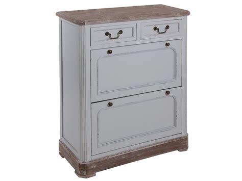 mueble vintage mueble zapatero vintage de madera de paulownia decapada