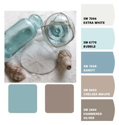 warm muted blue water sand mink brown taupe ivory designseeds color colour