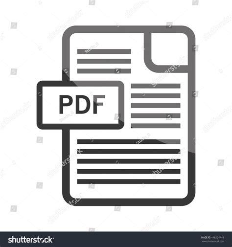ebook format with illustrations download ebook pdf format symbol vector stock vector