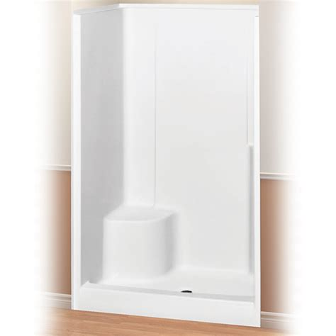 One Fiberglass Shower Stall With Seat by Evergreen 48 Quot Shower Unit By Maax Right Seat Surplus