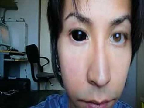 how to: insert and remove black sclera contacts youtube
