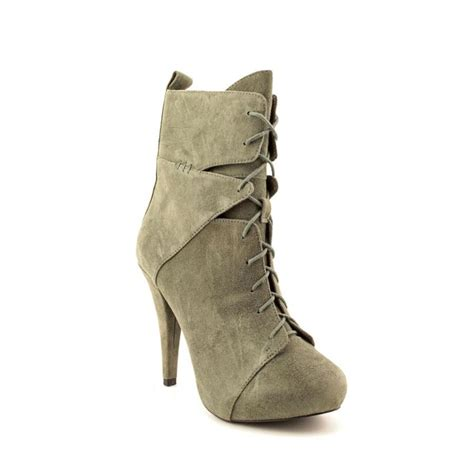womans suede boots ronson irina lace up suede green ankle