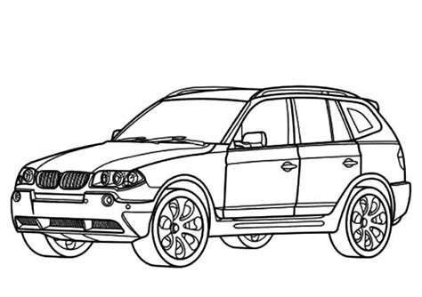 Car Color Types by Bmw Car Bmw Car X3 Type Coloring Pages