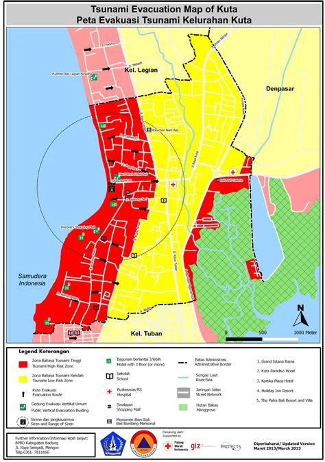 tsunami kit peta evakuasi tsunami bali badung