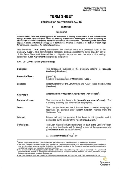 term sheet template for joint venture joint venture term sheet sle and template mou agreement