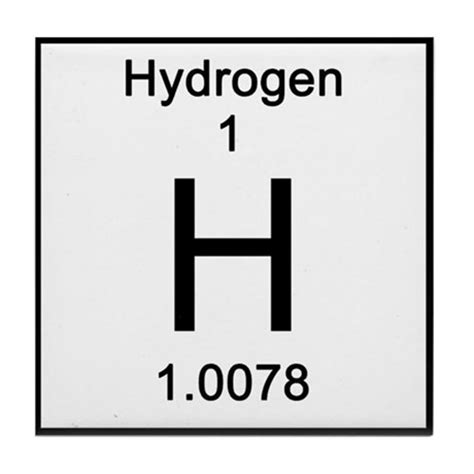 Hydrogen On The Periodic Table periodic table hydrogen tile coaster by science lady