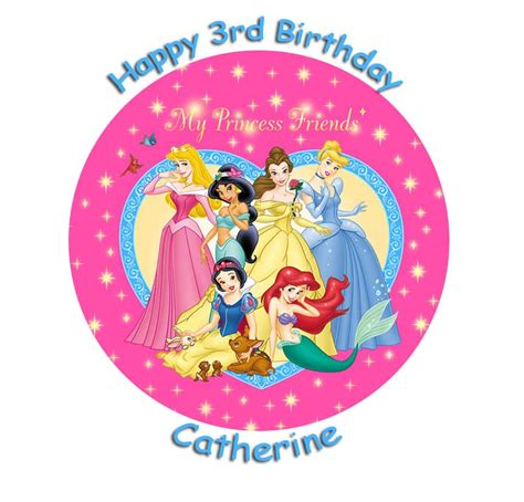my friend princess my princess friends 7 5 caketopper personalised 163 4