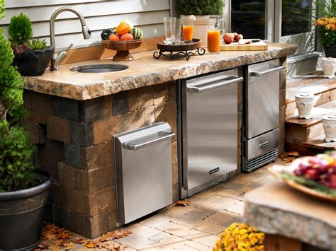 outside kitchen appliances outdoor kitchen appliances hgtv