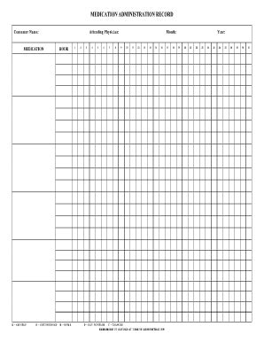 Medication Administration Record Template Pdf by Medication Administration Record Sheetpdffillercom Fill