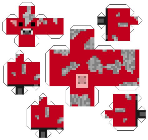 Minecraft Papercraft Mobs - tinytiger gaming minecraft papercraft mobs