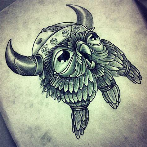 Owl Viking Tattoo   viking owl by inkslave84 on deviantart
