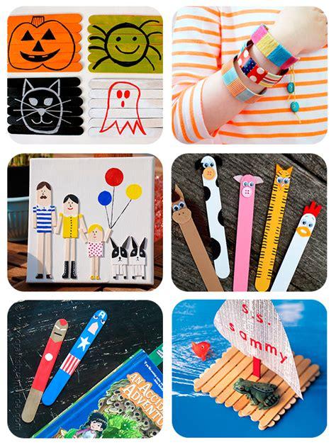 cosas que se pueden hacer con palitos de helado 6 manualidades infantiles con palitos de helado pequeocio