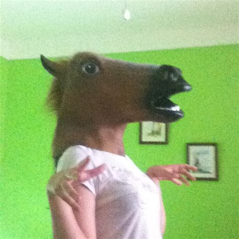 girl wearing horse head mask the best time to wear a horse mask by bunniy on deviantart
