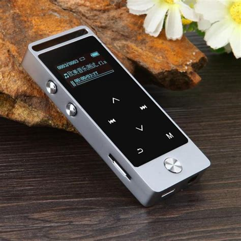 Benjie Mp3 Digital Audio Player Touch Screen 8gb With Fm Radio Silver benjie mp3 dap touch screen 8gb with fm radio bj m20