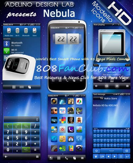 themes hd for nokia n8 adelino nebula hd theme nokia n8 belle refresh