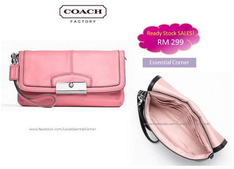 Coach Kristin 2nd Original coach 48988 kristin leather large flap wristlet pink
