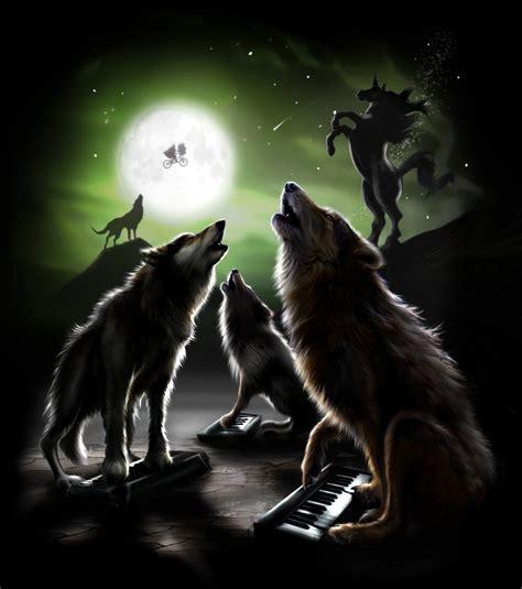 Three Wolf Moon Meme - 3 keyboard wolf moon with bonus unicorn first there