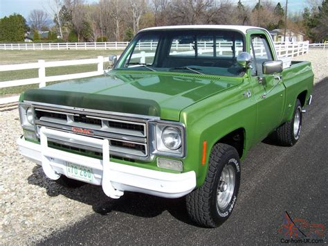 1975 gmc truck 1975 gmc chevy 4x4 shortbed 1 owner 4speed 350 original