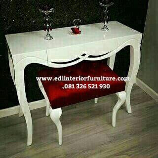Meja Konsul Dan Figura Hias meja konsul minimalis duco putih edi interior furniture