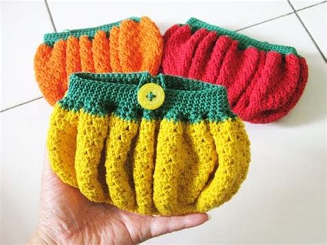 youtube membuat tas rajutan crochet dompet gembul tubby purse youtube