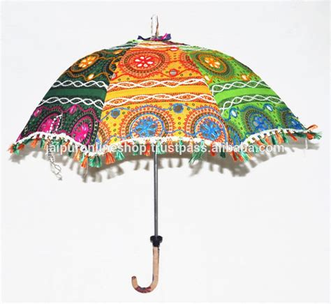 Girls Beach Umbrellas Ladies Embroidery Sun Umbrellas Fancy Patio Umbrellas