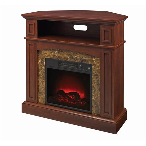 Electric Marble Fireplace by Essential Home Finley Faux Marble Electric Fireplace