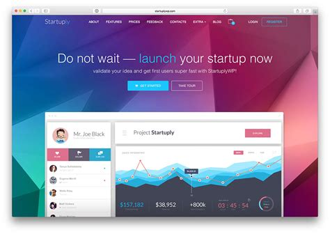 bootstrap sites templates 33 best app amp software showcase wordpress themes 2018