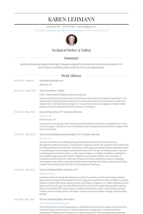Technical Editor Resumes by Technical Writer Resume Sles Visualcv Resume Sles