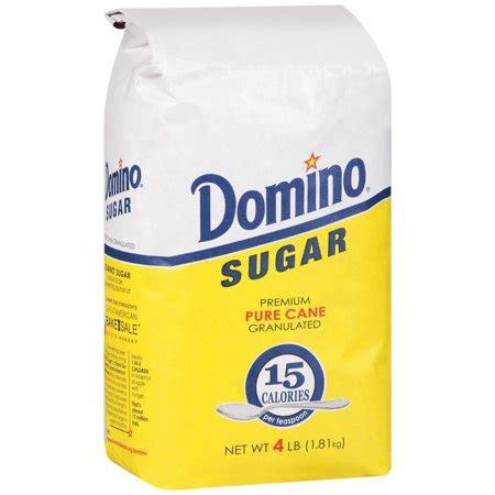 domino® premium sugar cane granulated sugar 4 lb. bag
