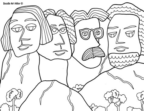 coloring page for mount rushmore mount rushmore coloring pages sketch coloring page