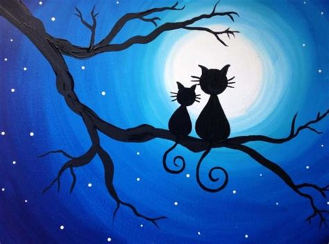 paint nite kent wa learn to paint right meow 2